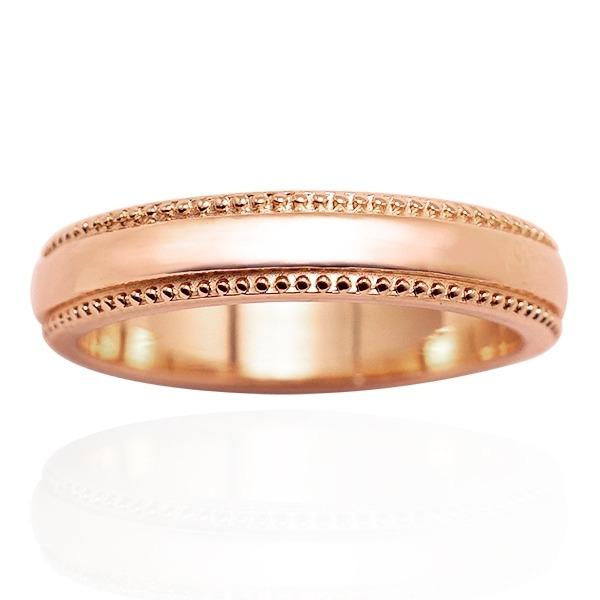 「浪漫滾珠(女4mm)14K金(單色玫瑰金)戒指推薦(單只價) 訂婚戒指推薦