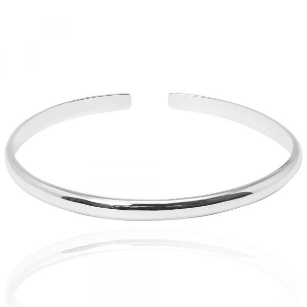 4mm「素雅(無刻字)」純銀手環|純銀手鐲 純銀手環