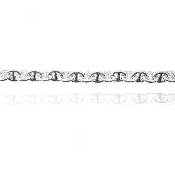 純銀單手鍊- 8mm「軍艦(細)」純銀手鍊|925銀飾 造型手鍊