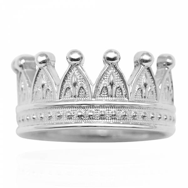 「后冠(無鑽)」造型純銀戒指|戒指推薦 皇冠戒指
