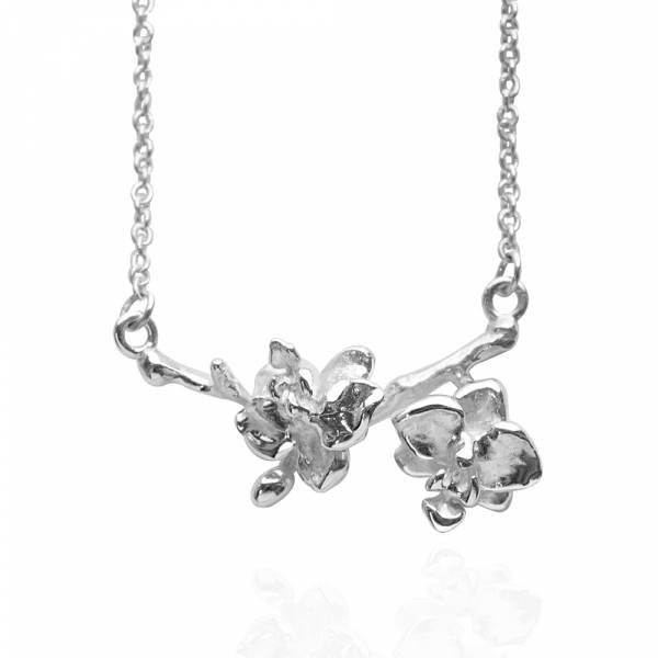 「蘭花」立體手工雕花系列純銀項鍊銀飾|銀項鍊推薦 蘭花