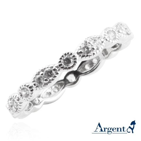 優雅花邊造型雕刻純銀戒指|戒指推薦 戒指推薦
