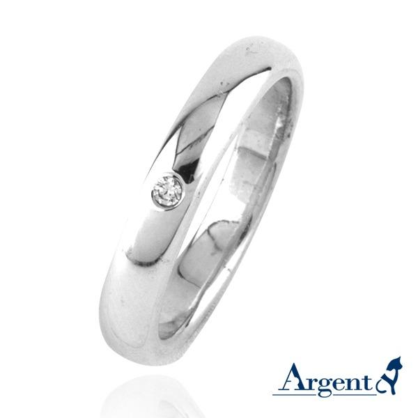 「經典(3/4/5/6mm)」鑲鑽素面純銀戒指|戒指推薦 戒指推薦