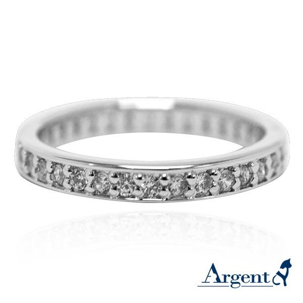 「軌跡」電鍍雕刻鑲嵌純銀戒指 戒指推薦 戒指推薦