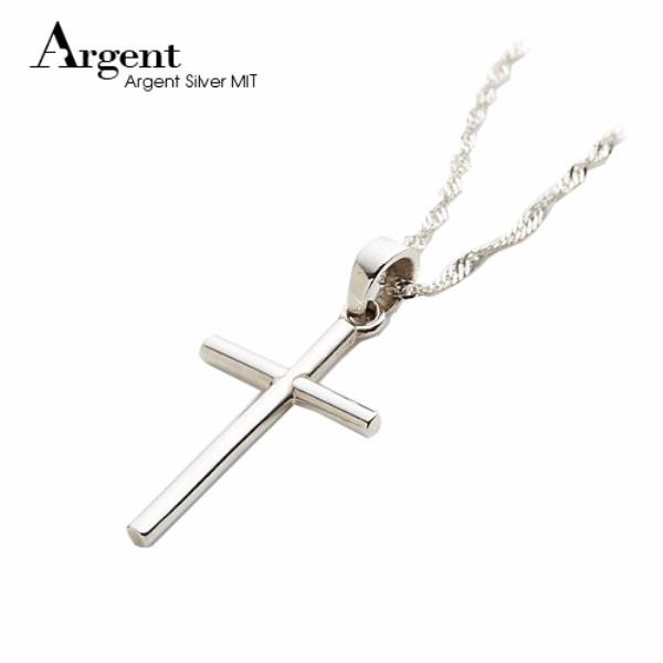 「素十字」純銀項鍊銀飾|銀項鍊推薦 素十字架,十字架,純銀,銀飾哪裡買,十字 項鍊