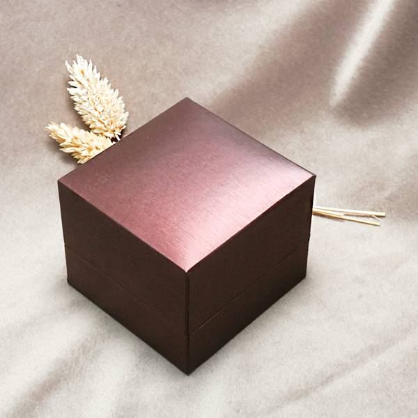紅拉絲單戒盒(內黑/內淺咖)-飾品收納盒|收納首飾盒 求婚戒指盒