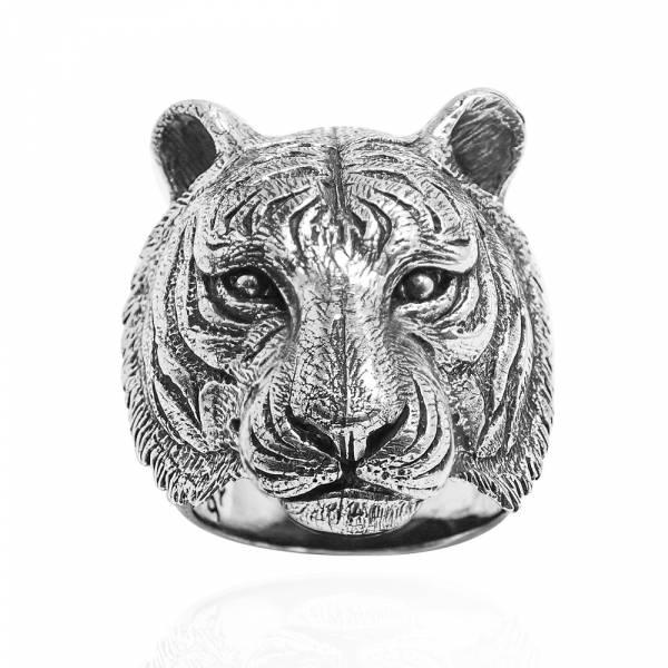 猛虎動物造型雕刻純銀戒指|戒指推薦 純銀動物戒指