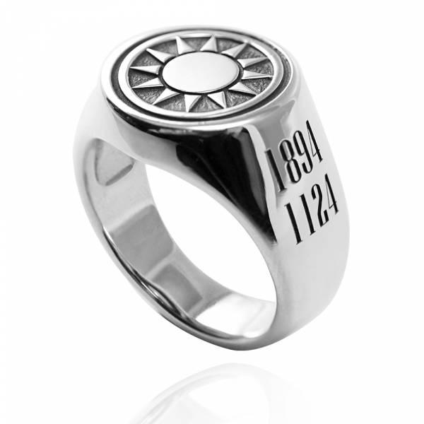 常見訂做-印章戒(圓形.寬版)-(含正面刻圖+雙側面刻字)純銀戒指|925銀飾戒指推薦(側面刻圖需加購瞄圖費) 印章冠軍戒指