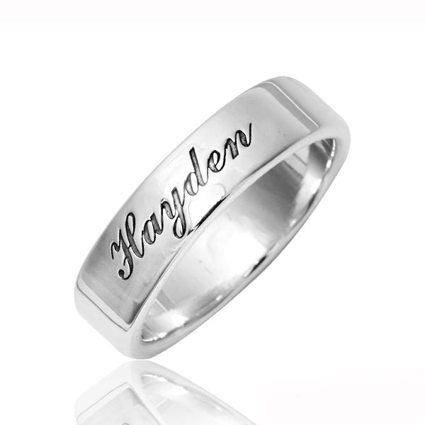簡約刻字6mm純銀戒指-訂製戒指|客製化訂做 訂製戒指