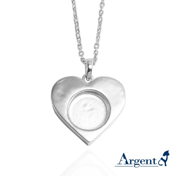 愛心寶盒純銀項鍊銀飾|銀項鍊推薦 寵物骨灰項鍊