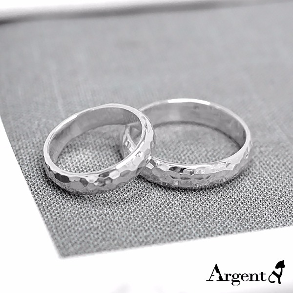 hammer sterling silver ring | couple on the ring recommended 對戒推薦