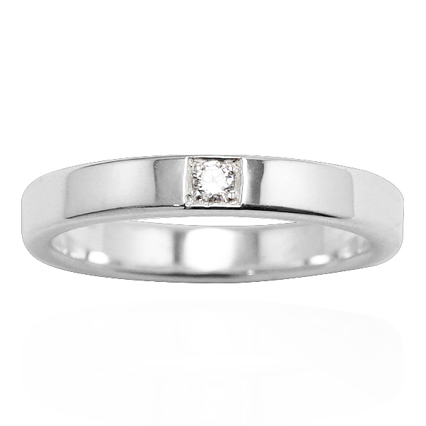 「永恆(寬/細)」鑲鑽簡約設計純銀戒指|戒指推薦 婚戒推薦