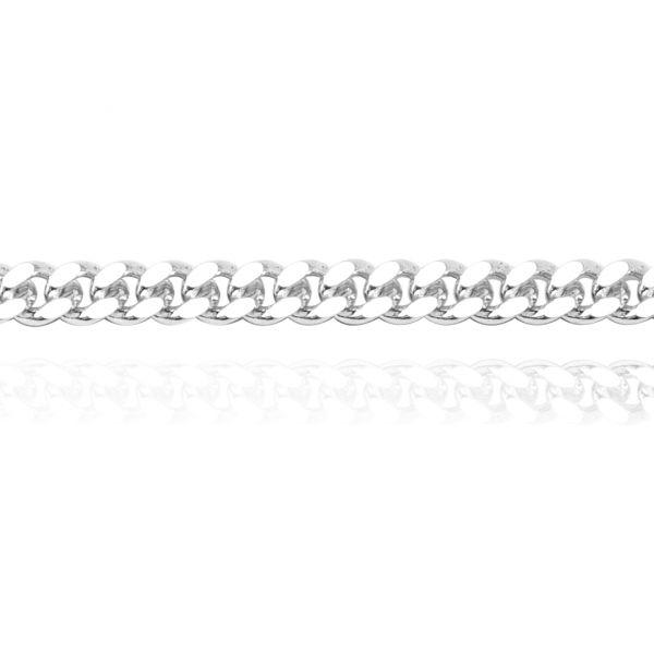 純銀單鍊-5mm扁鍊(24吋)-復古馬鞭鍊-單條純銀項鍊銀飾925純銀(單條價)