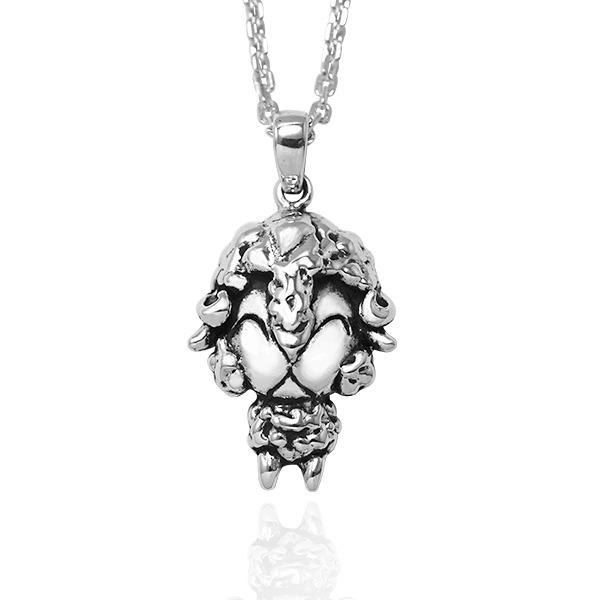 12生肖-羊-造型雕刻純銀項鍊|正面立體後面平面可加購刻字 12生肖銀項鍊推薦