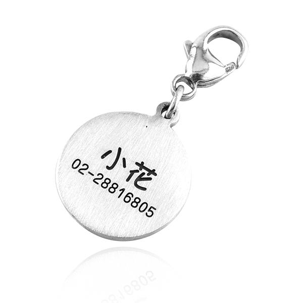 小圓牌純銀造型雷射刻字吊飾銀飾|寵物吊牌(單面刻字)(單個價) 情人吊飾