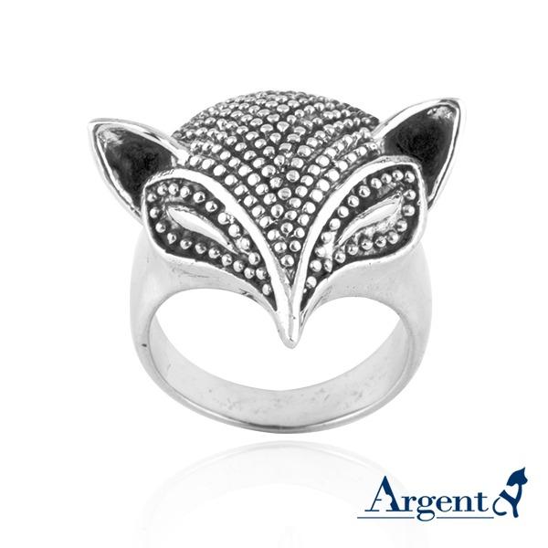 「银狐」动物造型雕刻纯银戒指|戒指推荐 戒指推薦