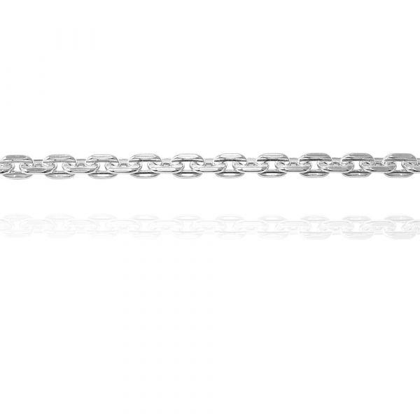 純銀單手鍊-4mm「方格鍊」造型純銀鍊 925銀飾(單條價) 純銀手鍊