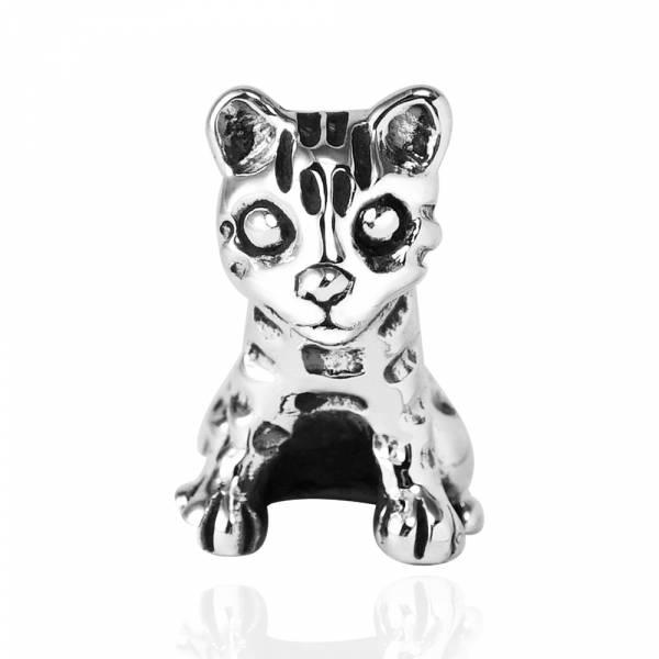 石虎造型純銀擺件-台灣保育類動物|銀飾推薦(單只價)(擺飾.無墜頭) 保育動物