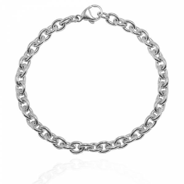 中版「椭圆锁链」纯银手链|925银饰 纯银手链