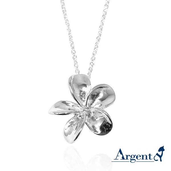 「茶花」立體手工雕花系列純銀項鍊銀飾|銀項鍊推薦 銀茶花項墜