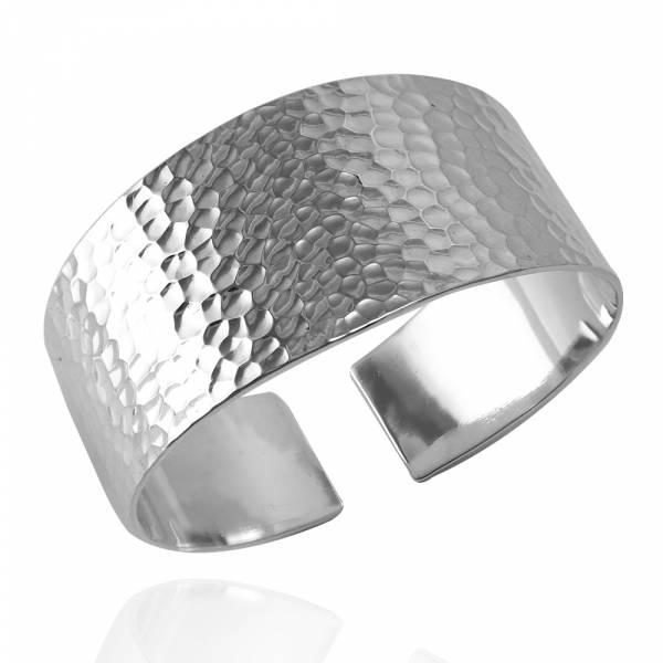 「寬版素雅烙印(寬到細)」手工系列純銀手環|925銀飾 手做手環
