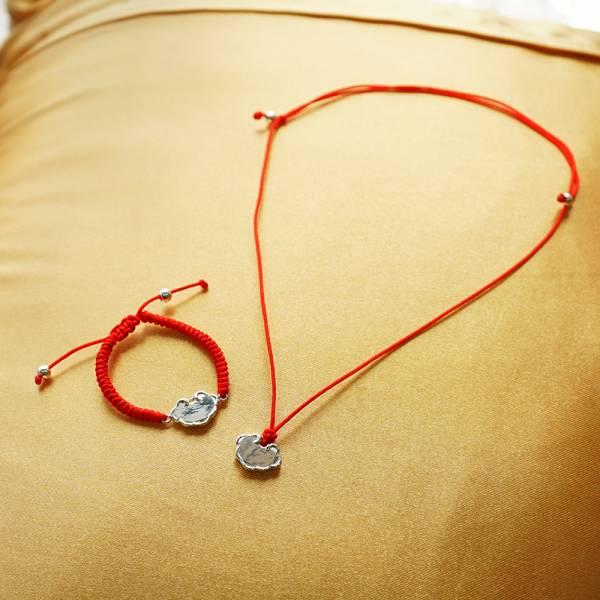 「平安鎖(紅線)」純銀手鍊|925銀飾可做彌月送禮baby手鍊 嬰兒手鍊