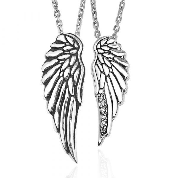 天使之戀造型純銀情人對鍊|情侶對鍊推薦(一對價) 對鍊推薦