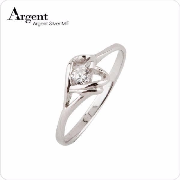 「簡愛」雙色細版鋯石純銀戒指|戒指推薦 戒指推薦
