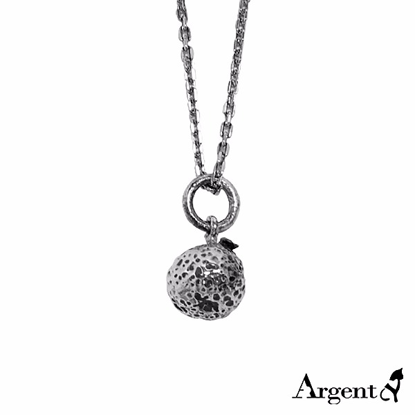 小橘子造型可愛純銀項鍊銀飾|銀項鍊推薦 銀項鍊推薦