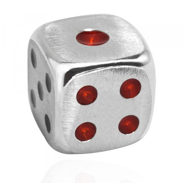 骰子-純銀擺飾銀飾(單個價)一次購6顆送手工木盒 手工製作.手工上色 骰子