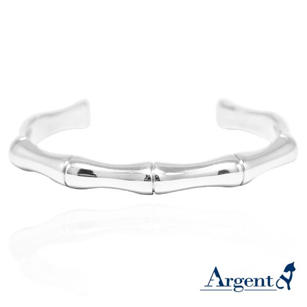 骨愛寬版造型銀手鐲純銀手環|925銀飾 純銀手環