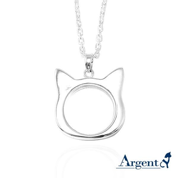 貓咪寶盒純銀項鍊銀飾|銀項鍊推薦 寵物骨灰項鍊