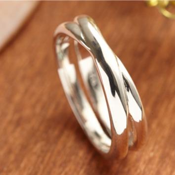 「相擁(男/女)」造型純銀戒指|925銀飾戒指推薦(單只價) 戒指推薦