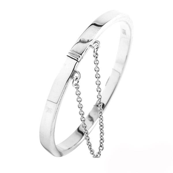 迷你簡約(baby大小)嬰兒純銀手環|寶寶彌月送禮小物紀念925純銀嬰兒手環(baby大小)(按鈕可開)(固定尺寸)彌月禮物 可加購刻字 嬰兒手環