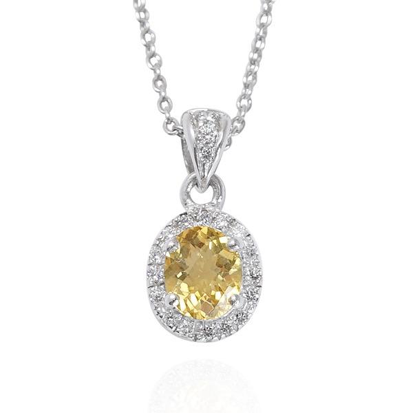 「花.嫁紗」(黃水晶/紅石榴/璧璽)天然寶石純銀項鍊銀飾|銀項鍊推薦 寶石項鍊推薦