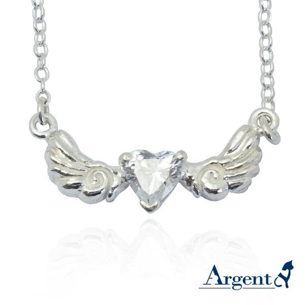 「浪漫天使心」造型純銀項鍊銀飾 銀項鍊推薦 銀項鍊推薦