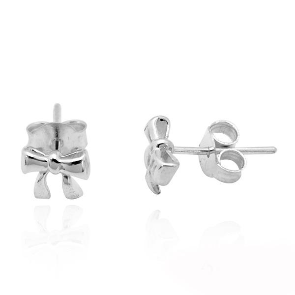 小蝴蝶結造型耳針純銀耳環推薦|925銀飾 純銀耳環推薦