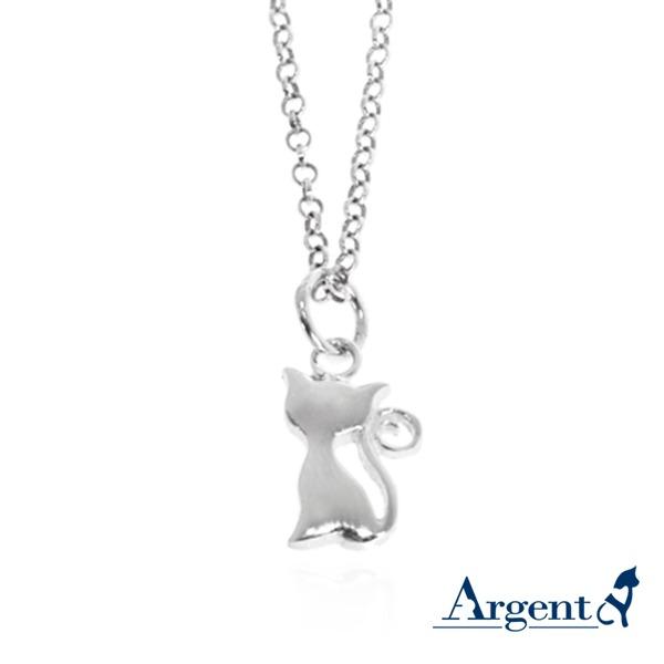 小貓咪造型素面簡約純銀項鍊銀飾|銀項鍊推薦(4色選1) 銀項鍊推薦