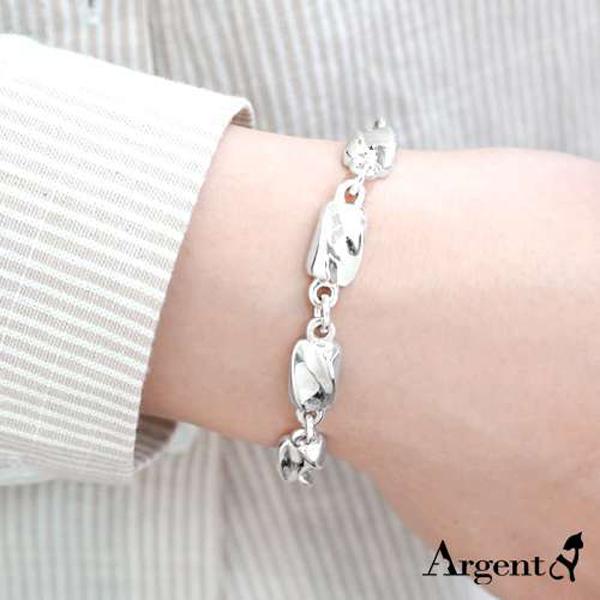 特粗款「波纹」系列纯银手链|925银饰 纯银手链