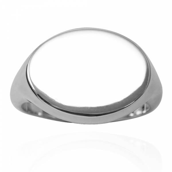 幾何造型戒(橢圓形.橫式.細版)印章戒純銀戒指|925銀飾戒指推薦 可加購刻字 幾何戒