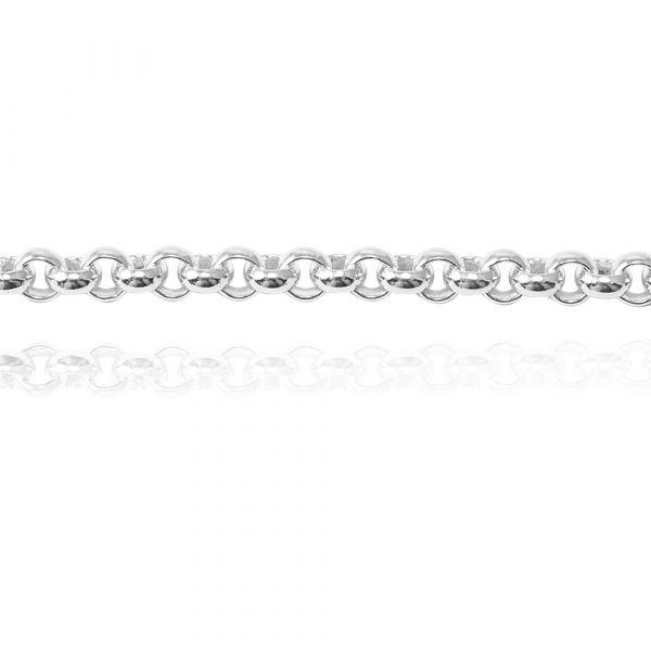 純銀單手鍊-5.5mm「小圓鍊」造型純銀鍊|925銀飾(單條價) 銀手鍊