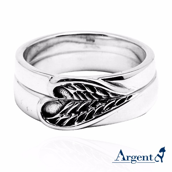Heart wing sterling silver silver ring | Couple ring recommended 對戒推薦
