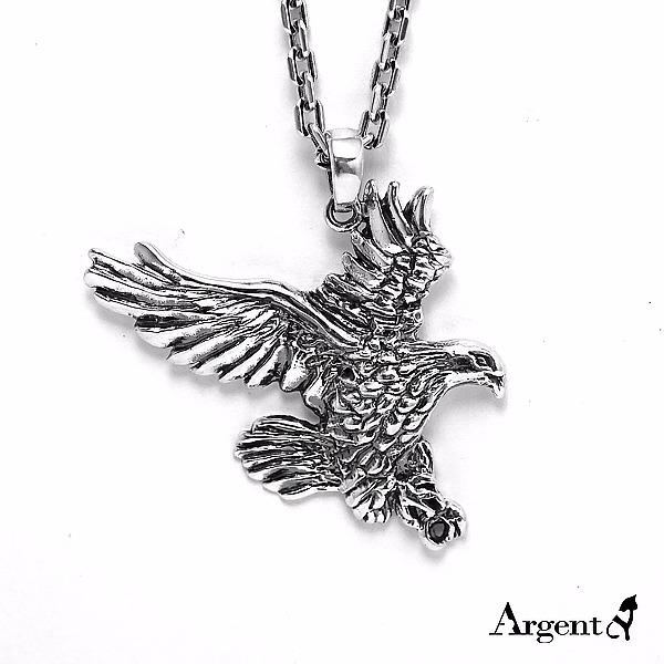 老鷹造型動物雕刻純銀項鍊銀飾|銀項鍊推薦 銀項鍊推薦