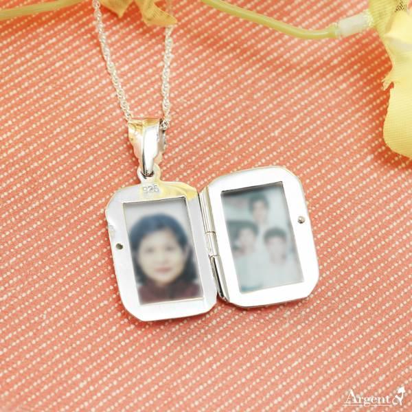 常見訂做-立體方塊(中.平)(含代印護貝照片2張)純銀項鍊銀飾|客製化項鍊(可代印放照片.可加購刻字)潘朵拉放照片系列 相片項鍊