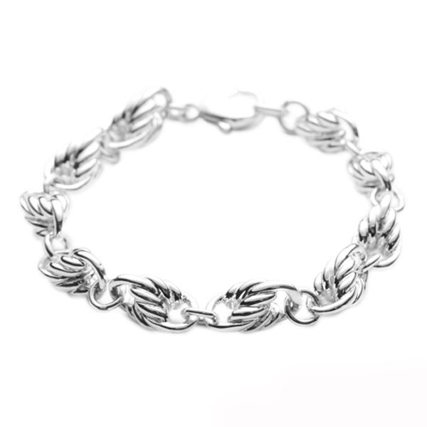 粗款「麻花链」系列纯银手链|925银饰  纯银手链