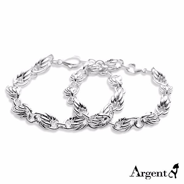 純銀單手鍊-對鍊-麻花鍊(中8mm+粗9mm)造型純銀對手鍊銀飾|情人節手飾(一對價) 情人對手鍊