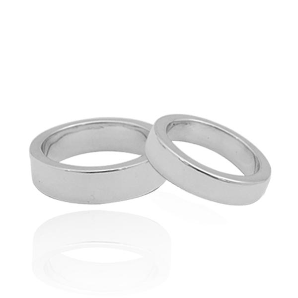 對戒-「簡約」素面情人純銀對戒銀飾|純銀對戒(4/6/8mm任選2只)(一對價) 純銀對戒