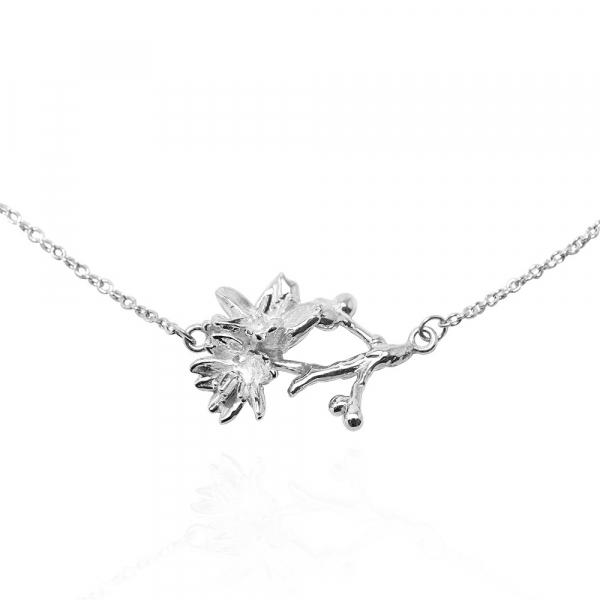 「櫻花」立體手工雕花系列純銀項鍊銀飾|銀項鍊推薦 櫻花