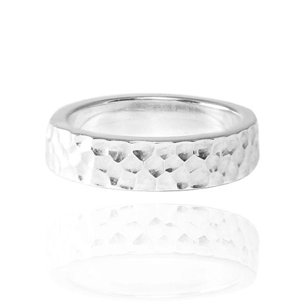 甜蜜烙印(4/6/8mm)敲打純銀戒指|925銀飾戒指(單只價) 戒指推薦