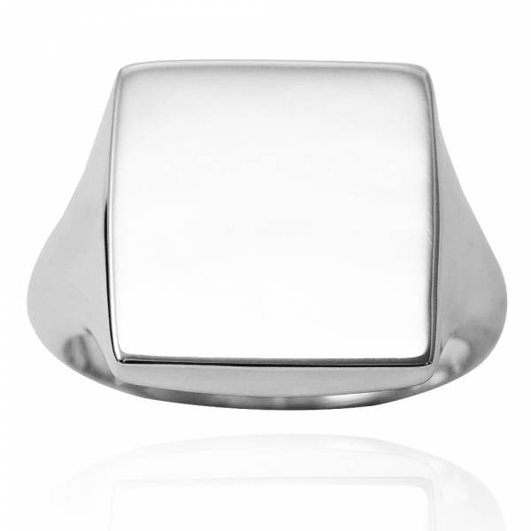 幾何造型戒(方形.細版)印章戒純銀戒指|925銀飾戒指推薦 可加購刻字 冠軍戒